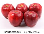 red apple with water drops... | Shutterstock . vector #167876912