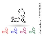 beauty salon logo multi color...