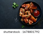 Grilled spicy chicken wings...
