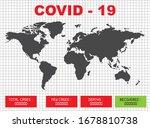 covid 19 worldwide data cases... | Shutterstock .eps vector #1678810738