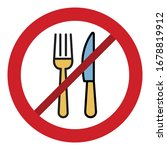 stop meal line style vector... | Shutterstock .eps vector #1678819912