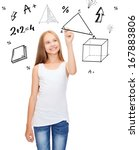 education and new technology... | Shutterstock . vector #167883806