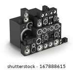 big pile of speakers hi fi... | Shutterstock . vector #167888615