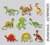 vector set of silhouettes... | Shutterstock .eps vector #1678898635