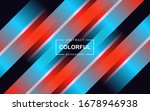 trendy red and blue gradient... | Shutterstock .eps vector #1678946938