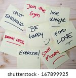 group of new year resolutions... | Shutterstock . vector #167899925