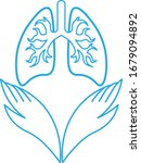 medical icon with two hands and ...   Shutterstock .eps vector #1679094892