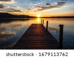 Jetty On Kochlsee In The...