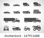 truck icons.vector | Shutterstock .eps vector #167911688