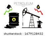 vector set of 3 sign oil and... | Shutterstock .eps vector #1679128432
