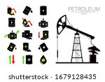 vector set of 15 sign oil and... | Shutterstock .eps vector #1679128435