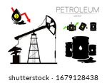 vector set of 5 sign oil and... | Shutterstock .eps vector #1679128438
