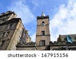 old stone blocks building in... | Shutterstock . vector #167915156