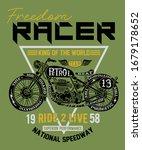 motor racer king of the road   Shutterstock .eps vector #1679178652