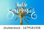 hello summer. calligraphy... | Shutterstock .eps vector #1679181508