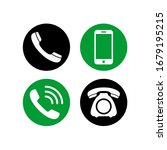 phone and telephone icon vector....