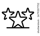 three stars icon. outline three ...