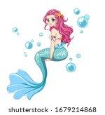 Beautiful Anime Mermaid With...
