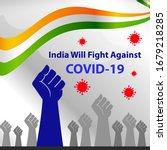 corona virus fight back poster. ... | Shutterstock .eps vector #1679218285