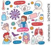 corona virus doodle element for ... | Shutterstock .eps vector #1679244478