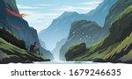 unbelievable mountain landscape.... | Shutterstock .eps vector #1679246635