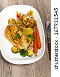 grilled chicken breasts and... | Shutterstock . vector #167931545