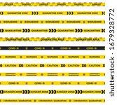 vector set of 12 quarantine... | Shutterstock .eps vector #1679328772