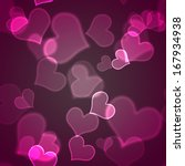 seamless bokeh hearts | Shutterstock . vector #167934938