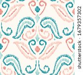 hand drawn pastel pink and aqua ... | Shutterstock .eps vector #1679357302