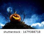 Halloween Design With Pumpkins ....