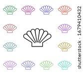 seashell multi color style icon....