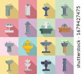 drinking fountain icons set.... | Shutterstock .eps vector #1679427475
