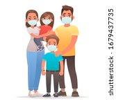 family quarantined. coronavirus ... | Shutterstock .eps vector #1679437735