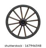 Grunge Wagon Wheel Isolated O...