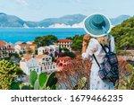 Tourist Female With Blue Sun...
