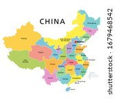 china  political map with...   Shutterstock .eps vector #1679468542