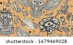 medieval seamless pattern....   Shutterstock .eps vector #1679469028