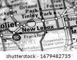 New Lenox. Illinois. USA on a map