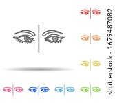 eyes  contact lens in multi...