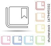 bookmark sign in multi color...