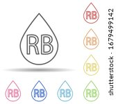 blood type rb in multi color...