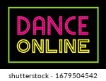dance onile   colorful text.... | Shutterstock .eps vector #1679504542