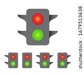 traffic light icon set ...   Shutterstock .eps vector #1679513638