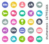 transport icons | Shutterstock .eps vector #167951666