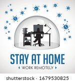 home office concept   home work ... | Shutterstock .eps vector #1679530825