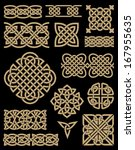 celtic design elements set | Shutterstock .eps vector #167955635