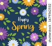 happy spring greeting card of... | Shutterstock .eps vector #1679562532