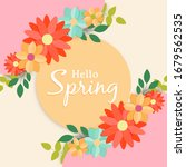 hello spring greeting card of... | Shutterstock .eps vector #1679562535