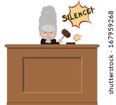 image of an angry cartoon judge | Shutterstock .eps vector #167959268