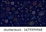 vector image of astronomy...   Shutterstock .eps vector #1679594968